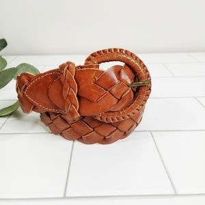 Vintage Braided Leather Classic Belt
